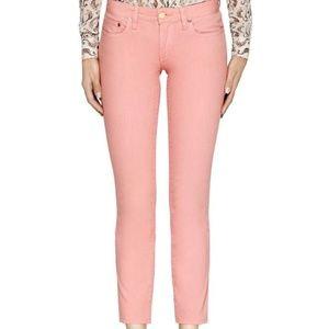 Tory Burch Pink Alexa Cropped Skinny Jean 26